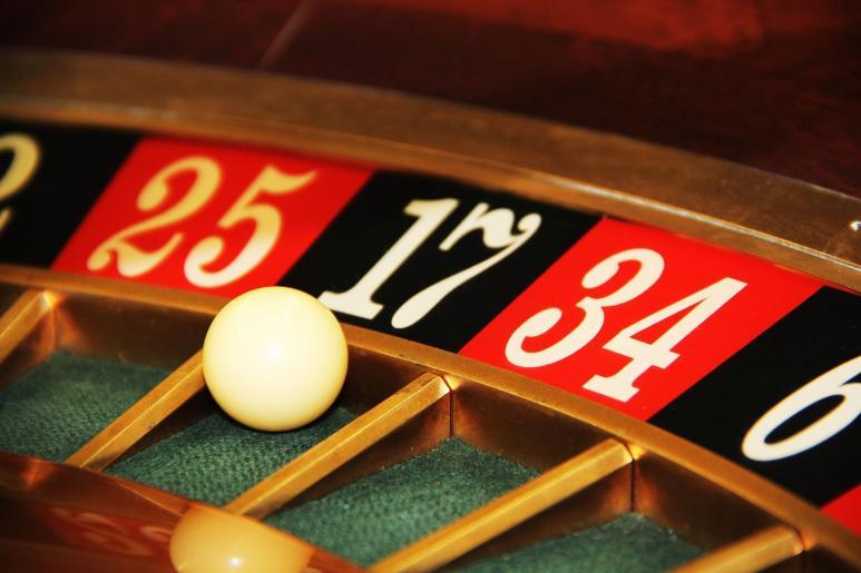 Blick auf einen Roulette Kessel